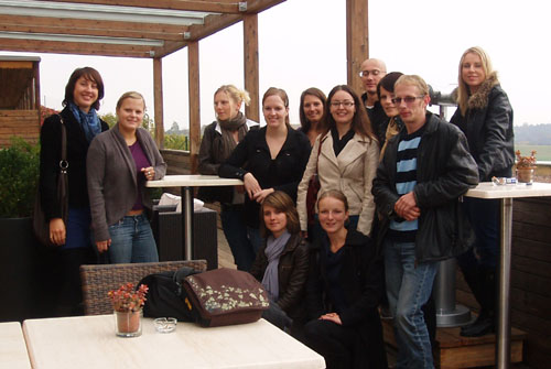 Gruppenfoto auf der Terrasse des Genusshotels Riegersburg