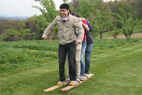 Gaudi-Parcours: Skifahren