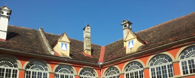 Renaissancehof Schloss Kornberg mit Schlosswiwrt Raimung Pammer